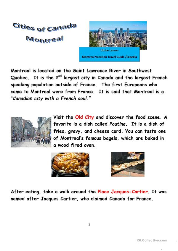 Cities of Canada: Montreal