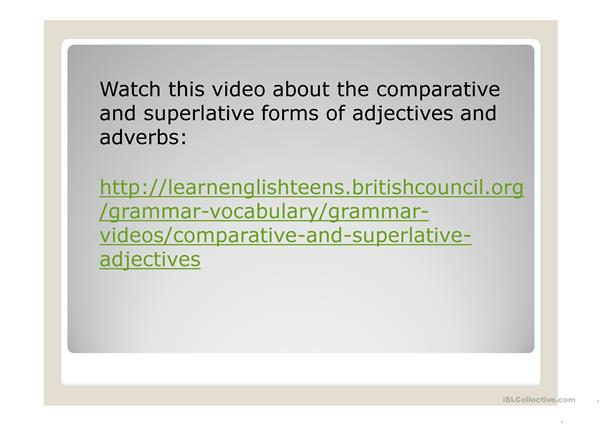 degrees of adjectives and adverbs