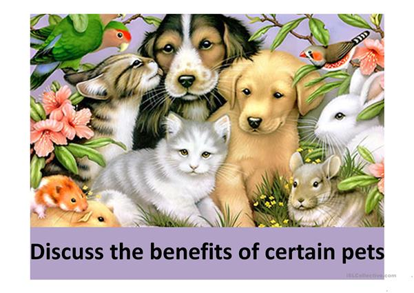 Describe benefits of certain pets