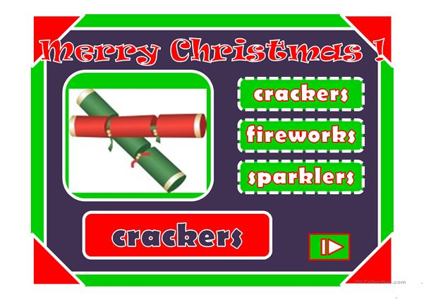 Merry Christmas,ho ho ho!! : multiple choice activity with a little animation