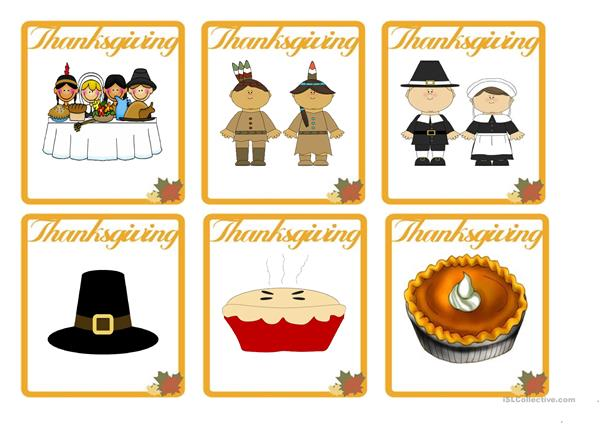 THANKSGIVING - FLASH CARDS