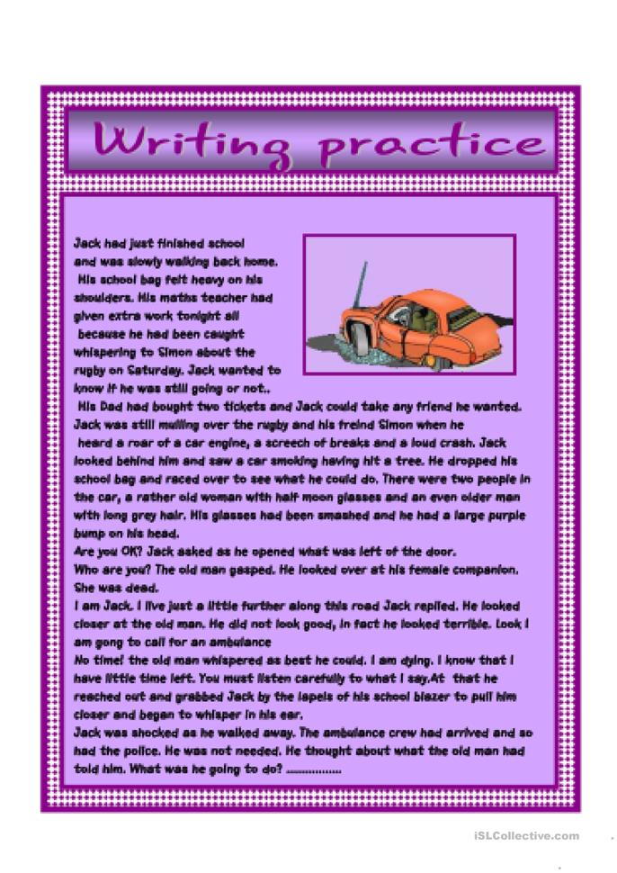 creative writing continue the story of Cambridge story competition - creative writing for young learners.