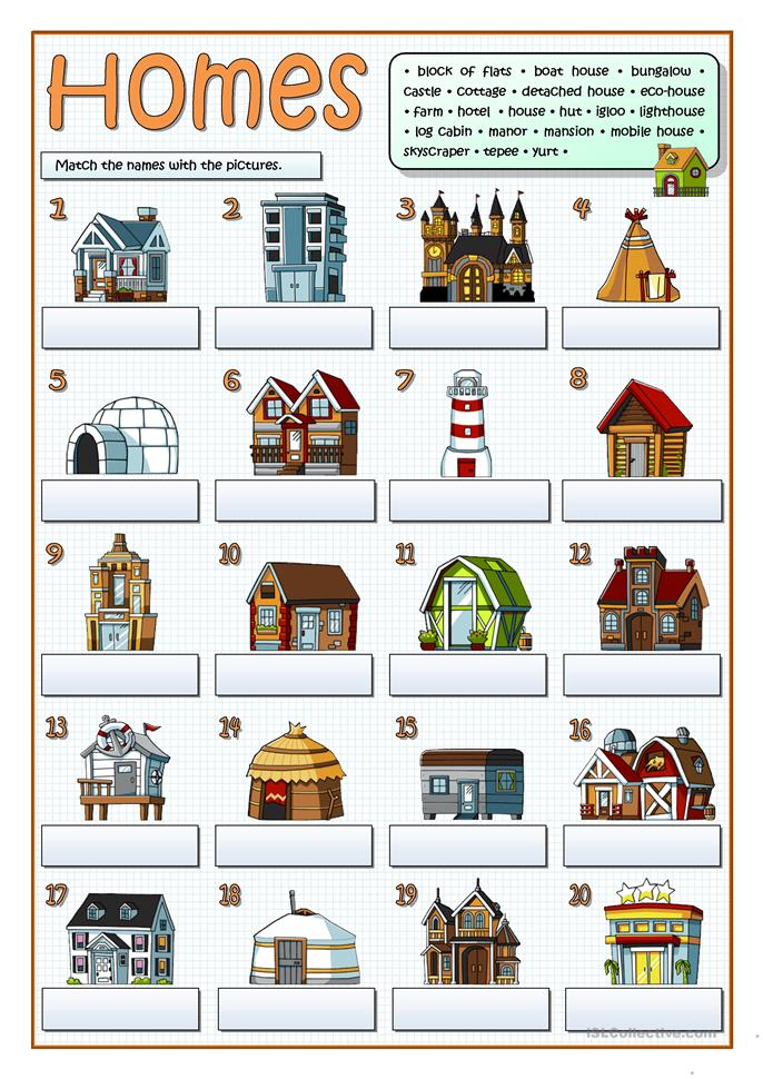 Pin Types Of Houses Your Online English Class On Pinterest