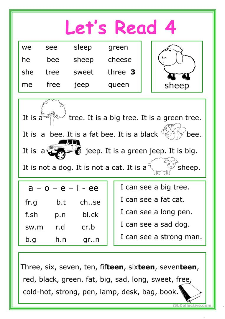 - Let's Read 4 - English ESL Worksheets For Distance Learning And