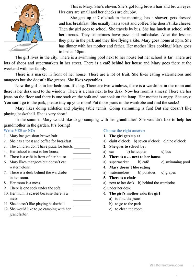 reading comprehension - English ESL Worksheets