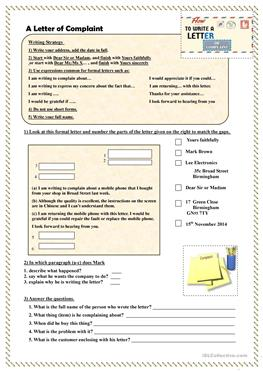 99 free esl tourism worksheets how to write a letter of complaint spiritdancerdesigns Choice Image