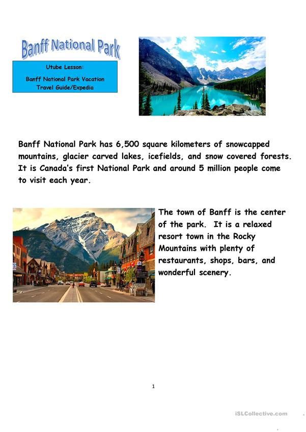 Banff National Park Lesson and Video