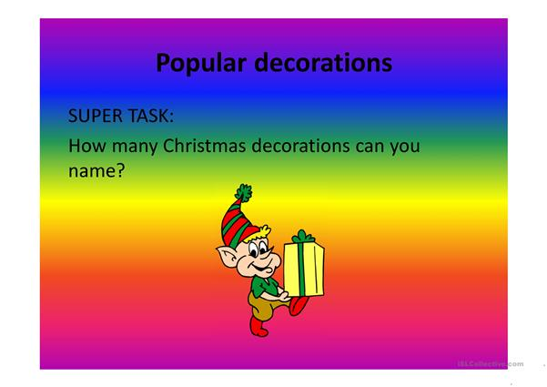 Christmas presentation for beginners.