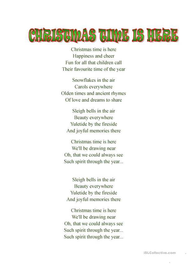Christmas time is  here , song by Daniela andrade