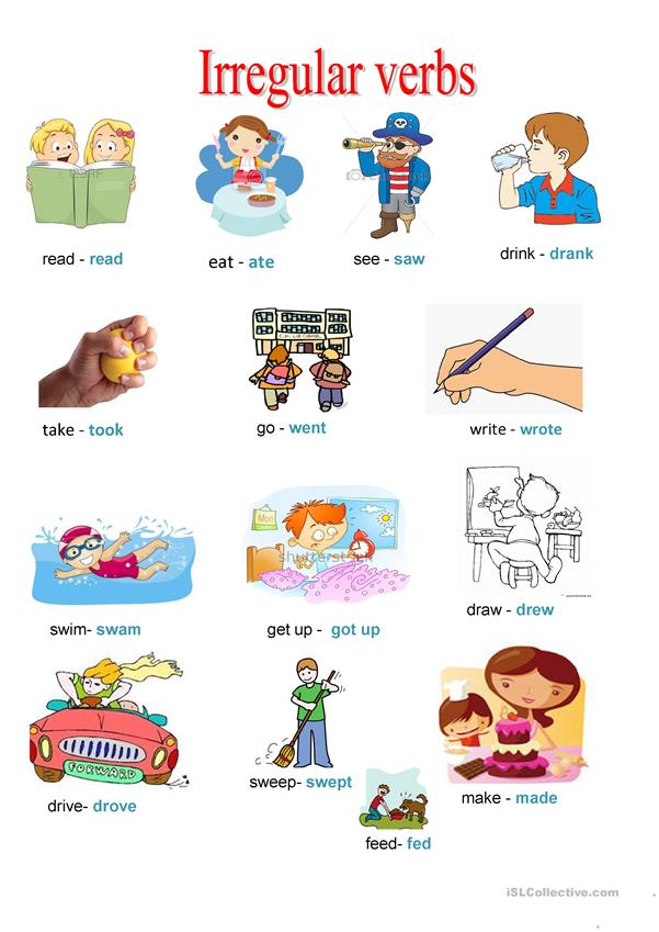 Regular -Irregular past verbs