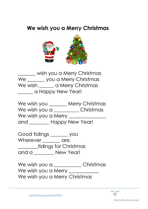 It's just a graphic of Words to We Wish You a Merry Christmas Printable for design