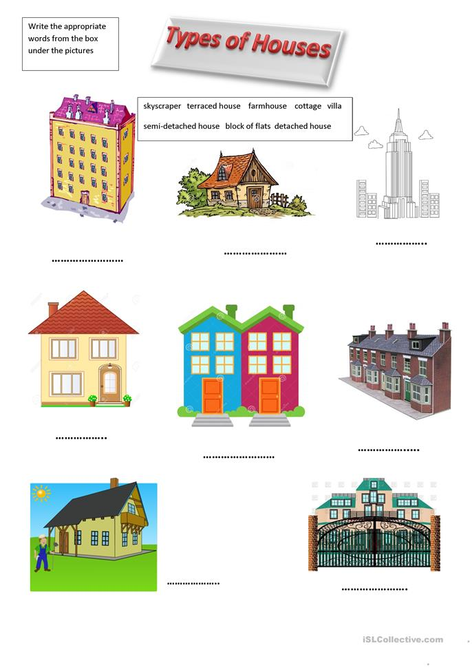 ... of Houses worksheet - Free ESL printable worksheets made by teachers
