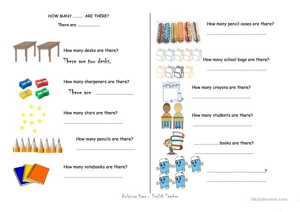 How Many..... Are There? - English ESL Worksheets For Distance Learning  And Physical Classrooms