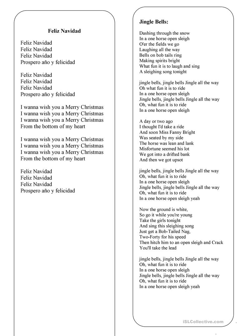 christmas the lyrics of 8 the best christmas songs and carols english esl worksheets for distance learning and physical classrooms best christmas songs and carols