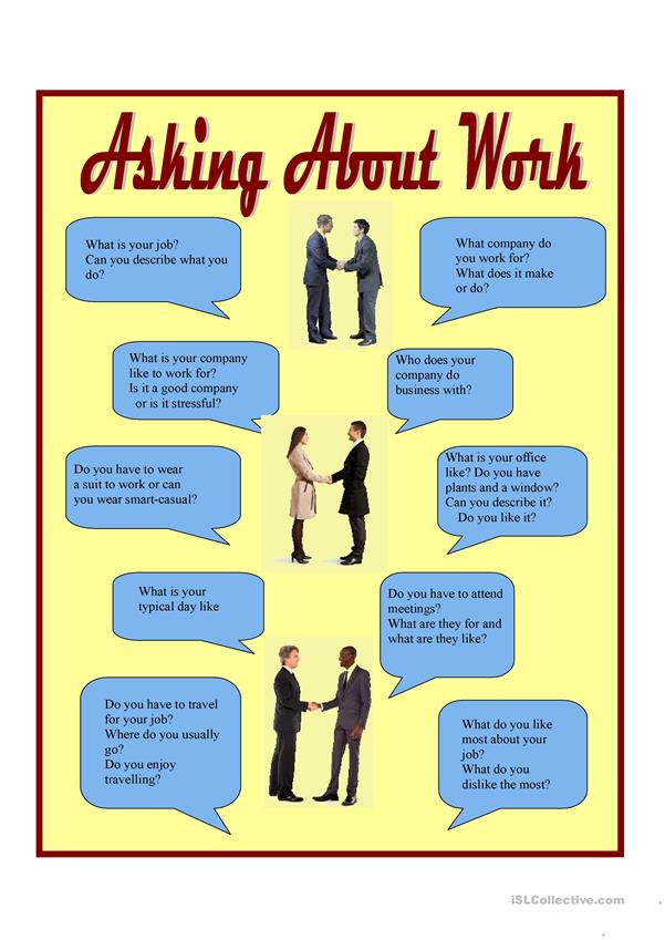 Asking about work - conversation practice