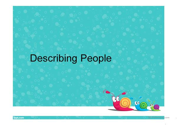 Describing People with Cartoon Characters