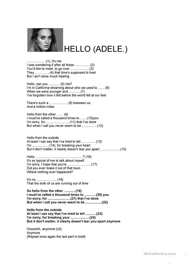 Hello -Adele´s Song