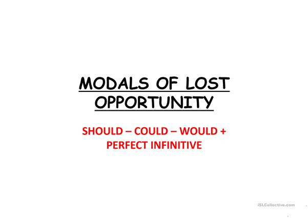 MODALS OF LOST OPPORTUNITY powerpoint
