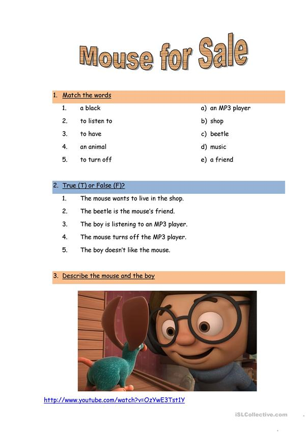 Movie Worksheet