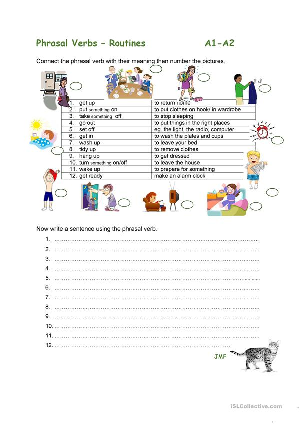 PHRASAL VERBS DAILY ROUTINES