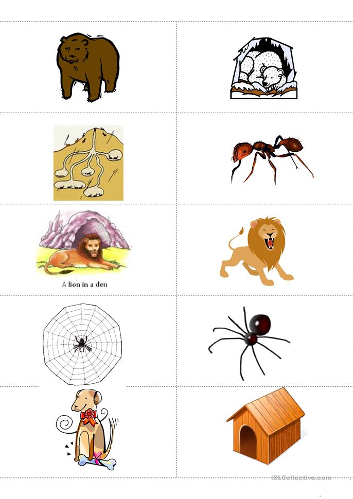 Animal Habitat Worksheets For Kindergarten & habitats worksheets ...