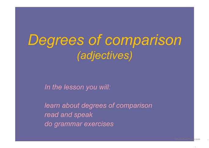 Degrees of comparison worksheet - Free ESL projectable worksheets made ...