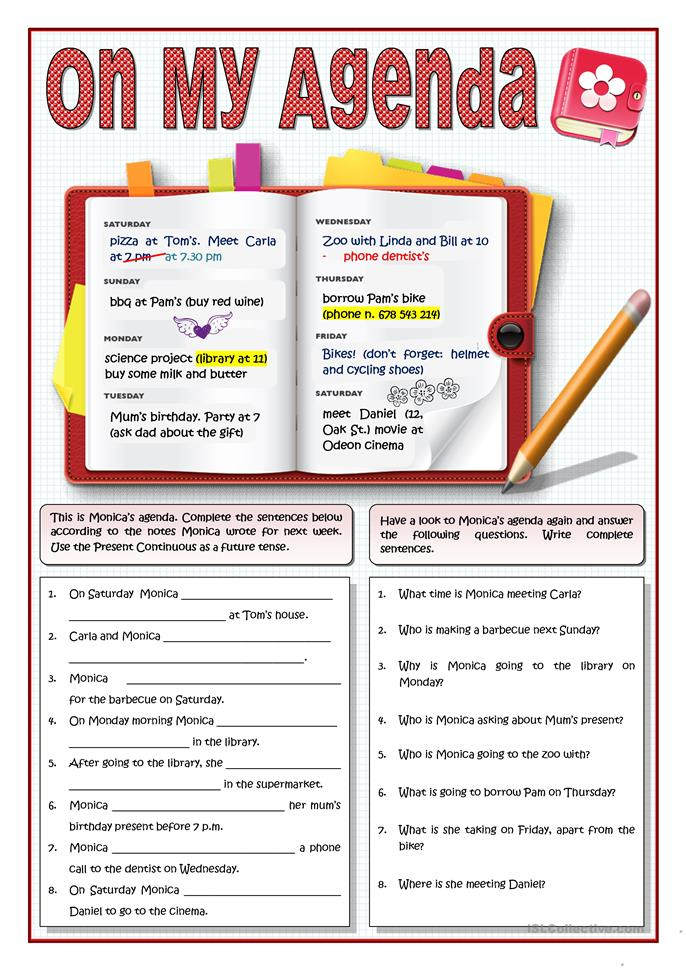 Worksheet Present Continuous Tense on second grade, past future, for small kids, for esl, for grade 4, for g1, 4th grade,