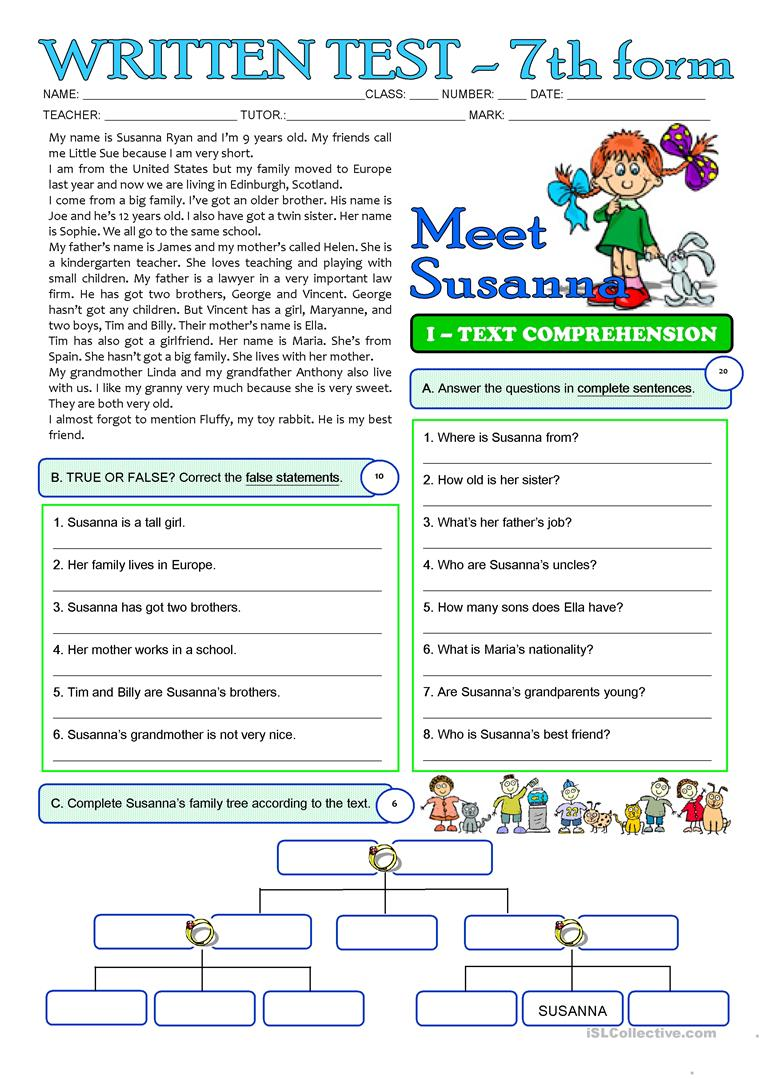 Workbooks worksheets for grade 3 : 33 FREE ESL grade 3 worksheets