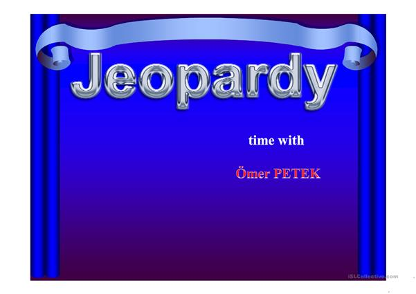 A jeopardy game