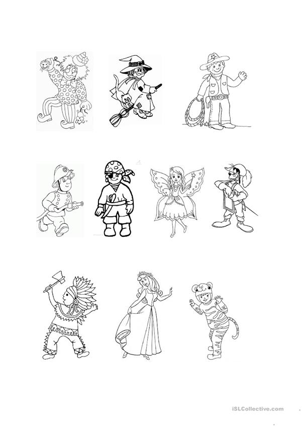 Colour the carnival costumes