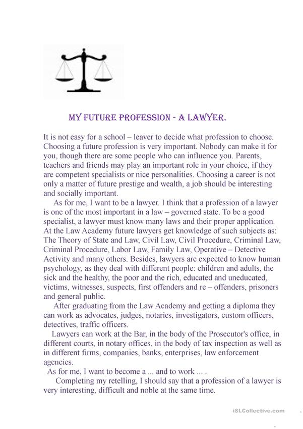 Future Profession - a Lawyer