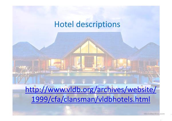 Hotel Descriptions