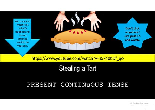 Present Continuous Tense/Movie-like