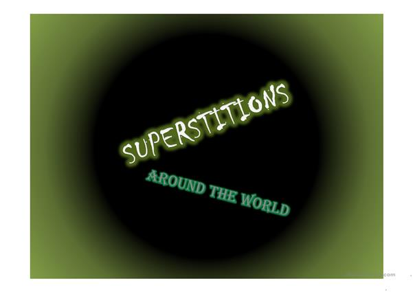 Superstitions in the world