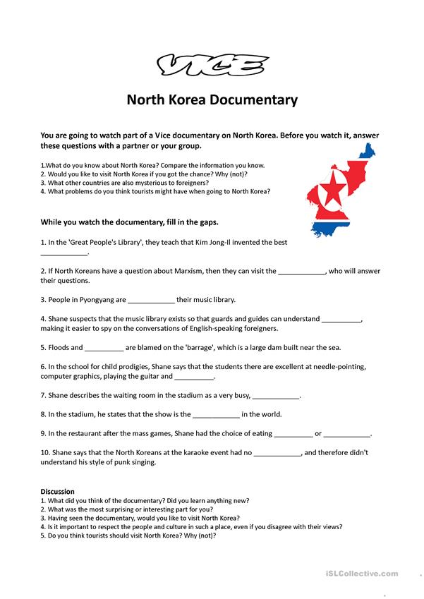 Vice Documentary - North Korea Video Activity
