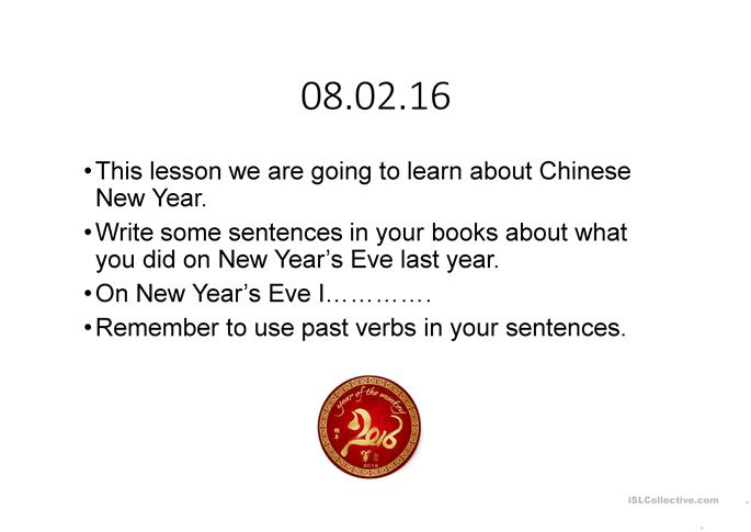 Chinese New Year 2016 - ESL powerpoints