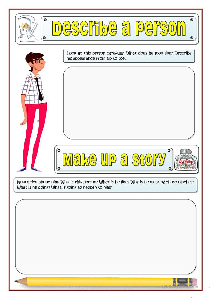 DESCRIBE AND TELL A STORY 2 - ESL worksheets