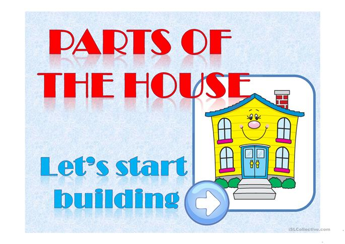 PARTS OF THE HOUSE - ESL powerpoints