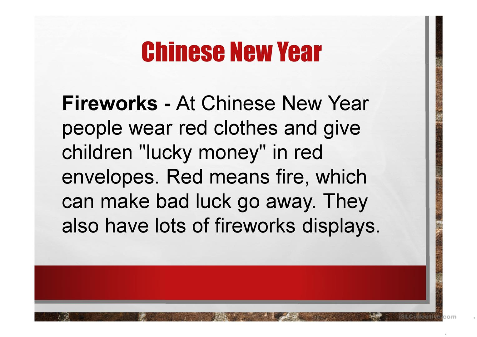 Chinese New Year 2016 worksheet - Free ESL projectable worksheets