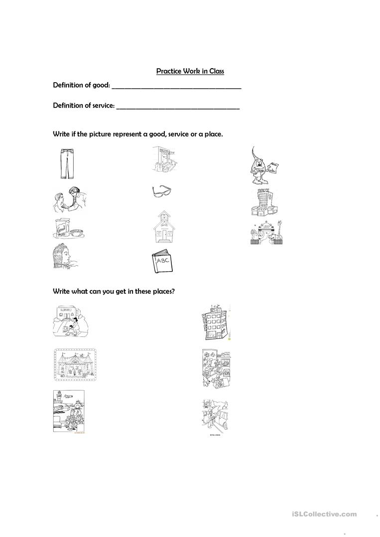 Worksheets Goods And Services Worksheets 10 free esl services worksheets for elementary a1 level goods and services