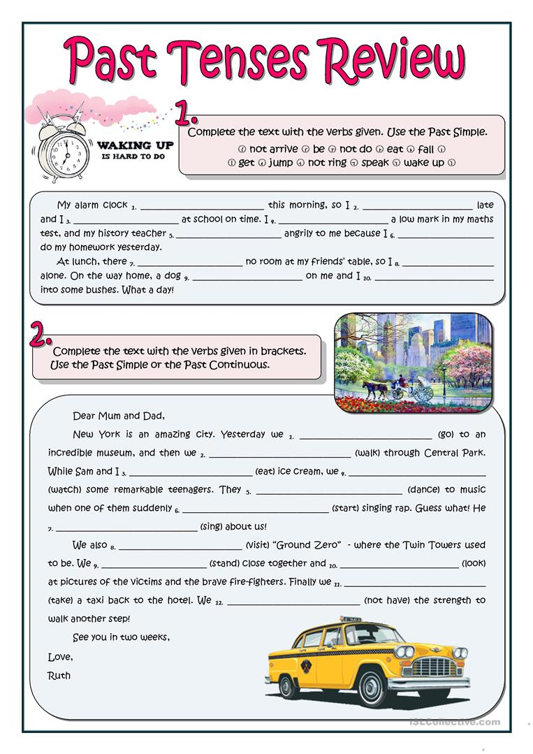 78 Free Esl Tense Review Worksheets