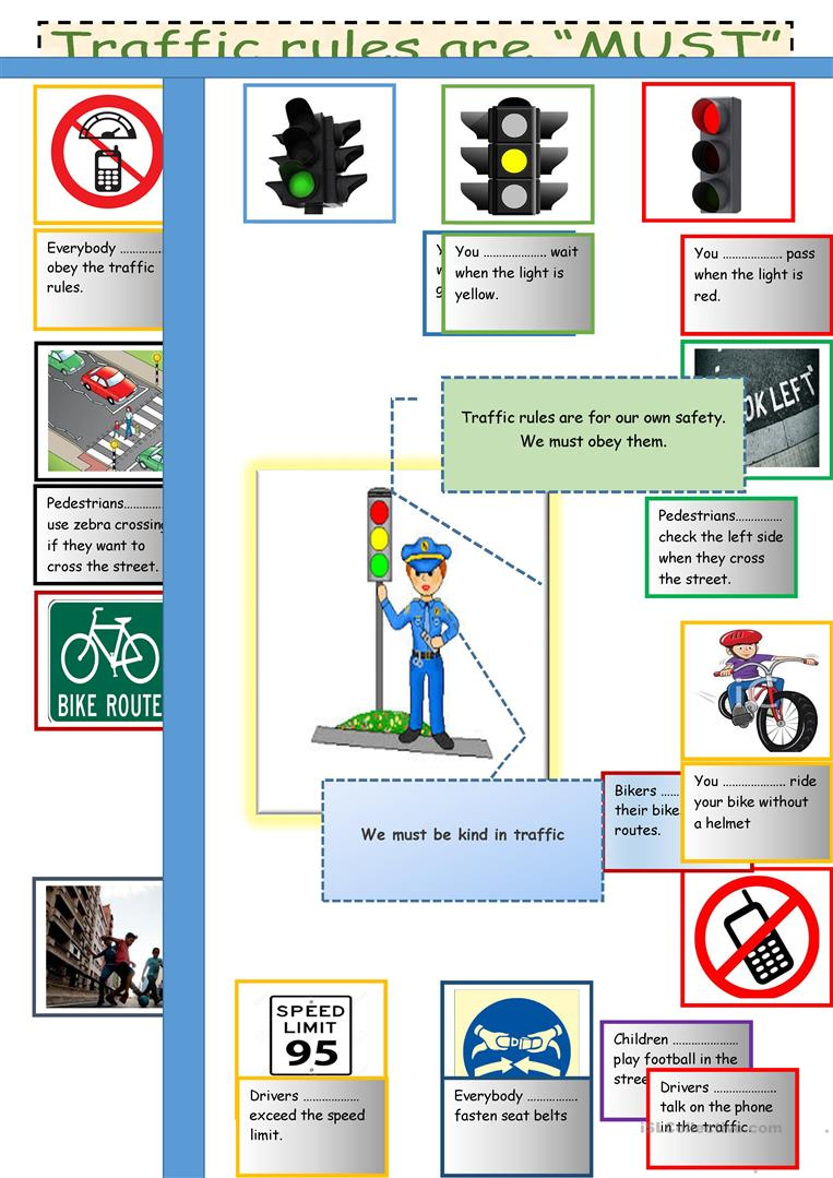 19 free esl traffic worksheets traffic rules are must robcynllc Images