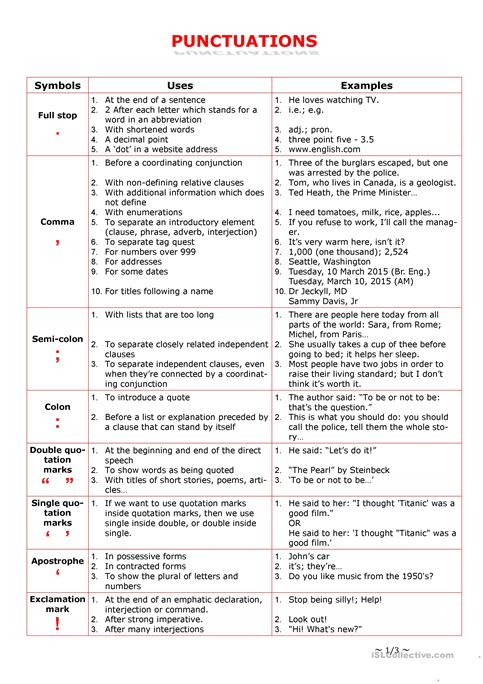 Punctuation Practice: More Matching | Punctuation, Worksheets and ...