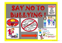 saying no to bullying in the Say no to bullies  made by arriana politis and katerina spilliopoulou bullies are usually kids or teenagers that feel insecure bullies are bullies for a reason these bullies might have issues like family divorce, death or abuse download presentation say no to bullies loading in 2 seconds.