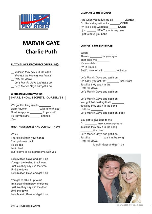 Charlie Puth - Marvin Gaye