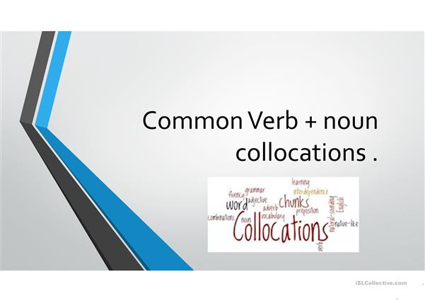common verb-noun collocations