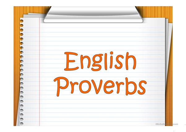 ENGLISH PROVERBS 3
