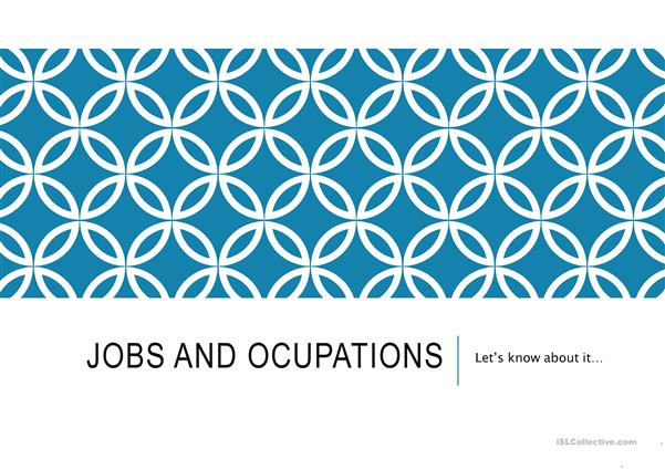 jobs and ocupations