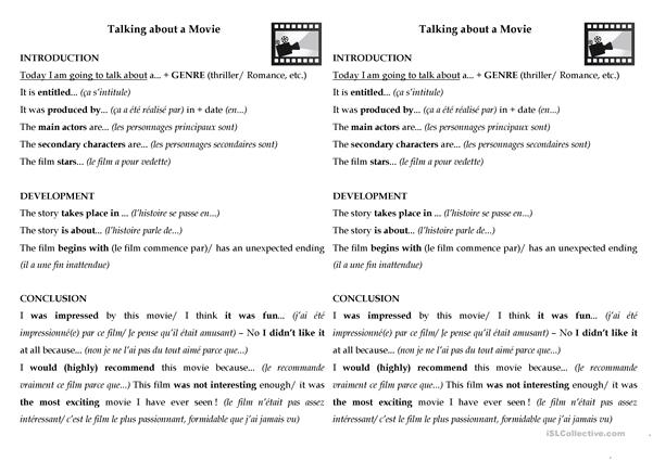 Methodology of research about a movie