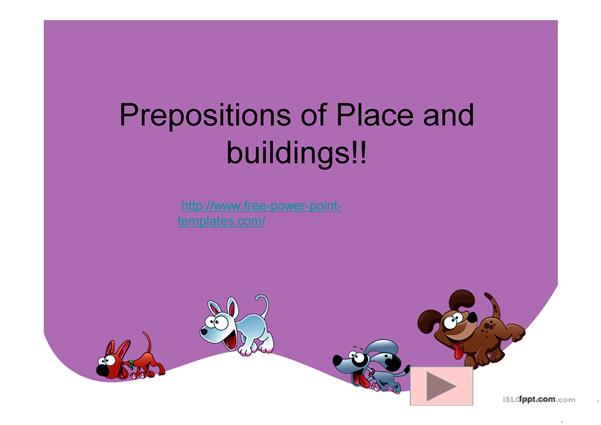 prepositions of place buildings